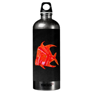 Fish Angel Red Orange 905 The MUSEUM Zazzle Water Bottle