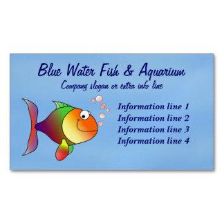Fish Aquarium Business Business Card Magnet