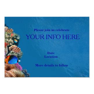 """Fish aquarium card 5"""" x 7"""" invitation card"""