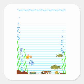 Fish Aquarium Square Sticker