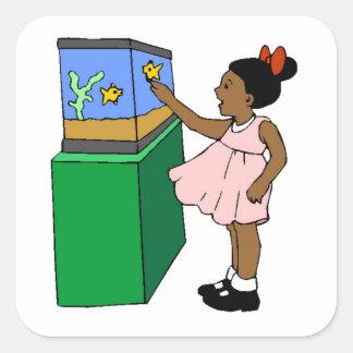Fish Aquarium Square Stickers