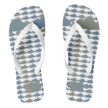 Beach Themed Fish Armani Greys Flip Flops