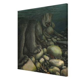 Fish Art Canvas Fishing Bear Canvas Art Print