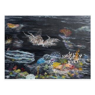 Fish art on post cards