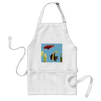 Fish Art swimming in the sea Adult Apron