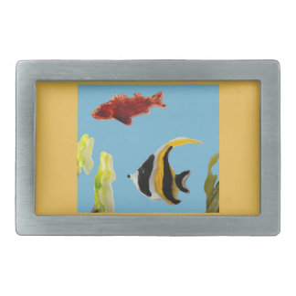 Fish Art swimming in the sea Belt Buckle