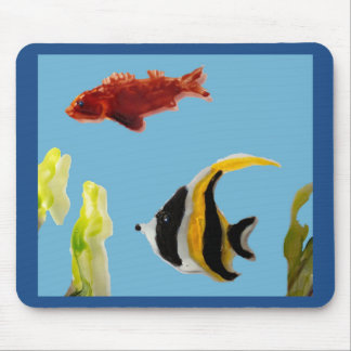 Fish Art swimming in the sea Mouse Pad
