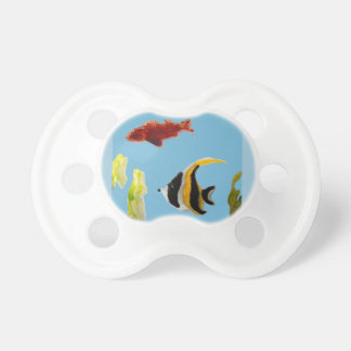 Fish Art swimming in the sea Pacifier