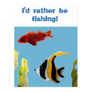 Fish Art swimming in the sea Postcard