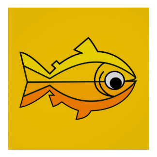 Fish as symbol of Christianity Poster