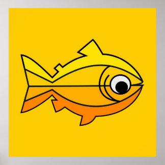 Fish as symbol of Christianity Print