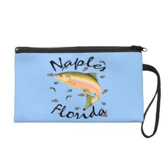 Fish assorted Naples Souvenier Bagettes Bag Wristlet Purses
