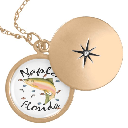 Fish assorted Naples Souvenier Gold Plated Necklace