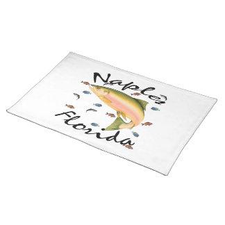 Fish assorted Souvenier American MoJo Placemat Cloth Place Mat