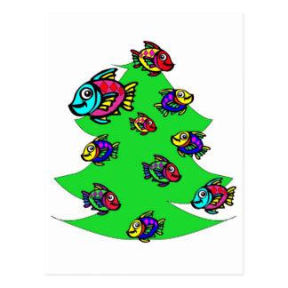 fish at Christmas tree Postcard