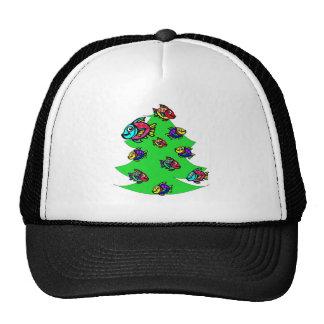 fish at Christmas tree Trucker Hat
