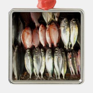 Fish at market, town of Kalabahi, Alor Island, 2 Metal Ornament