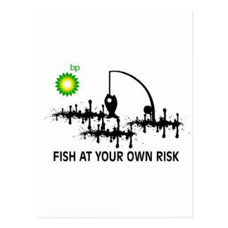 FISH AT YOUR OWN RISK POSTCARD