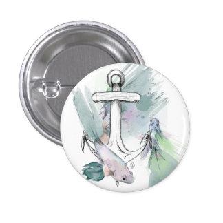 Fish Badge 1 Inch Round Button
