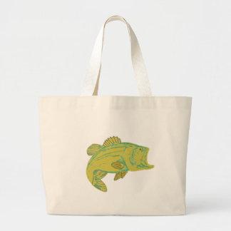 fish canvas bag