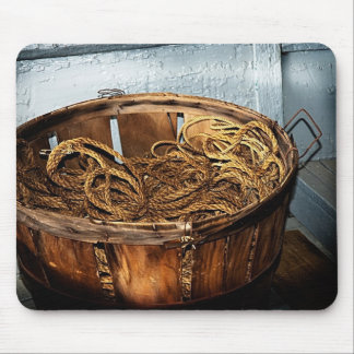 Fish Basket of Rope Mouse Pad