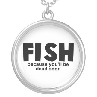 Fish Before Death Silver Plated Necklace