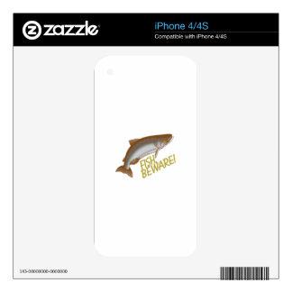 Fish Beware iPhone 4S Decals