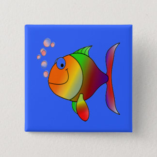 Fish Blowing Bubbles Button