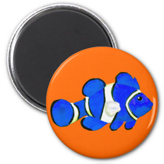 Fish Blue Vero Beach 2010 The MUSEUM Zazzle Gifts 2 Inch Round Magnet