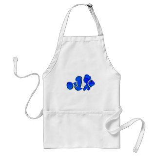 Fish Blue Vero Beach 2010 The MUSEUM Zazzle Gifts Adult Apron