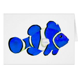 Fish Blue Vero Beach 2010 The MUSEUM Zazzle Gifts Card