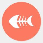 Fish Bone Appetit! Gourmet Cat Food Biz Tomato Classic Round Sticker