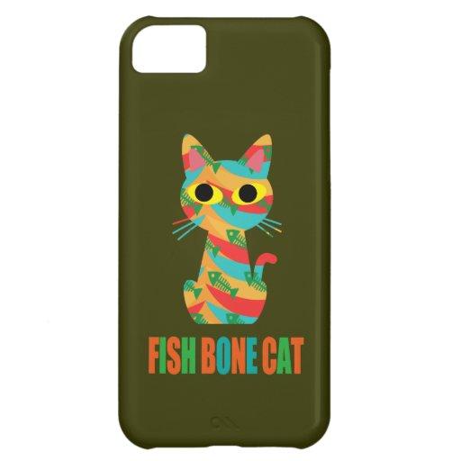 Fish Bone Cat Cover For iPhone 5C