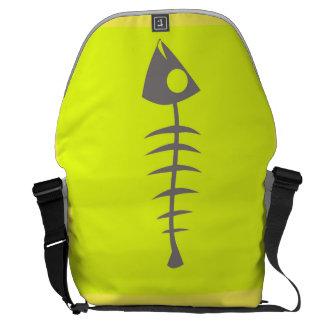 fish bone messenger bag