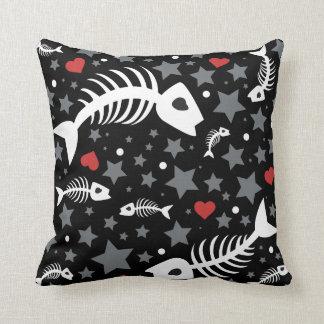 Fish skeleton pillows decorative throw pillows zazzle for Fish body pillow