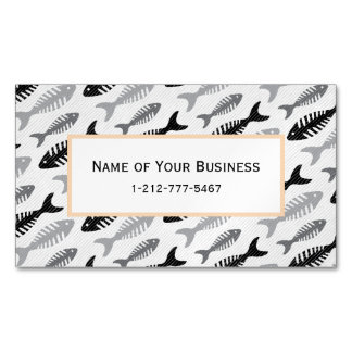 Fish Bone - Seafood on the Menu Magnetic Business Card