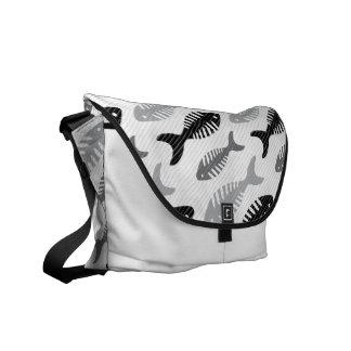 Fish Bone Soup Retro Pattern Courier Bag