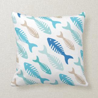 Fish Bone Soup Throw Pillow