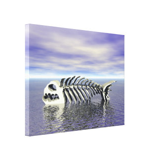 Fish Bones Canvas Print