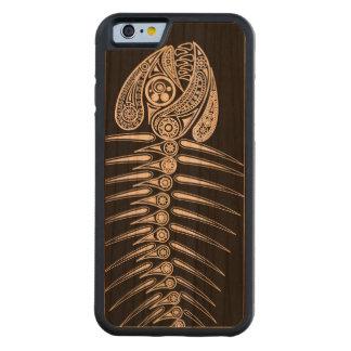 Fish Bones Skeleton Carved Cherry iPhone 6 Bumper Case