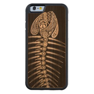 Fish Bones Skeleton Carved® Cherry iPhone 6 Bumper Case