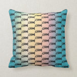 Fish Bones Skeletons Pattern Multicolored Gifts Throw Pillows