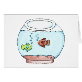 Fish Bowl Birthday Card