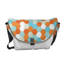 Fish Bowl Honeycomb Pattern Medium Messenger Bag