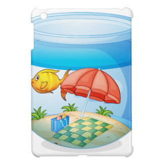 Fish bowl isolated on white background cover for the iPad mini