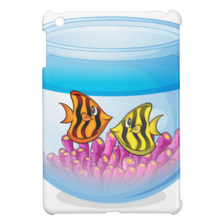 Fish bowl isolated on white background iPad mini cover