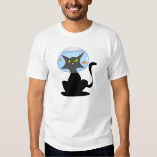 Fish Bowl Kitty T Shirts
