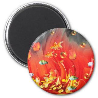 Fish Bowl 2 Inch Round Magnet