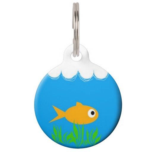 Fish bowl pet id tag zazzle for Fish bowl pets