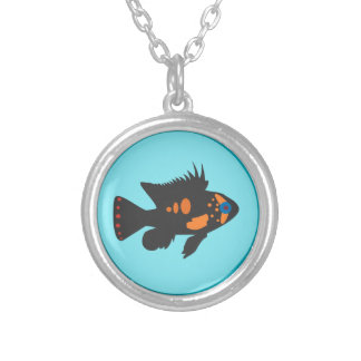 Fish Bowl Round Pendant Necklace